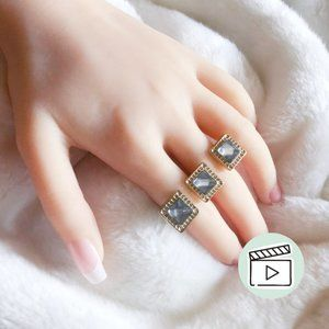 Jewelmint Gold Pyramid Two Finger Ring Size 6-8